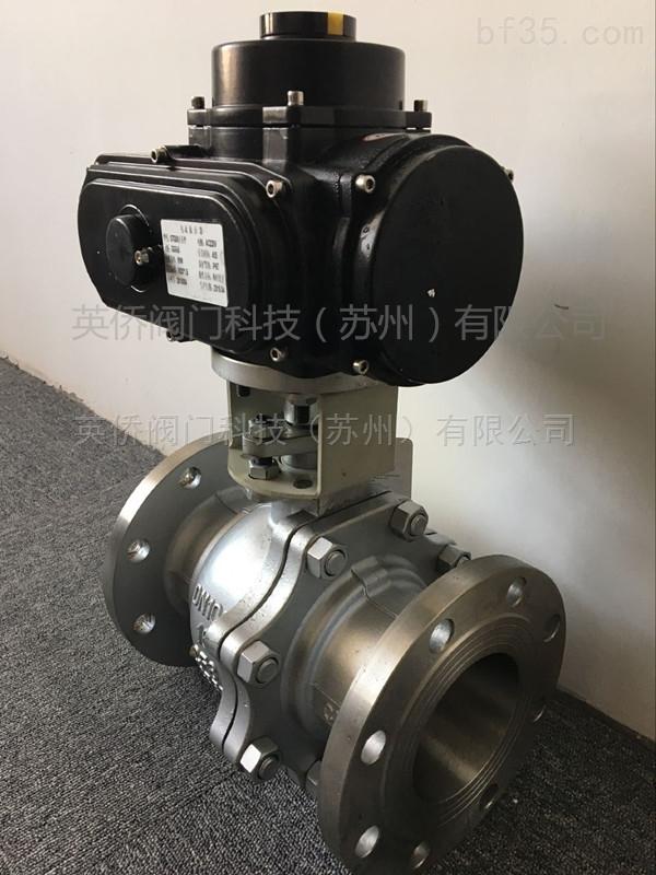 q941f-16p 不锈钢电动法兰球阀kq941f-16p图片